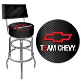 Team Chevy Racing Padded Bar Stool with Back