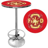 Fire Fighter Pub Table with Foot Rest