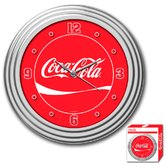 Coca-Cola Clock Ribbon Style in Chrome