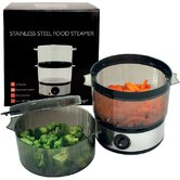 4 Quart 400 Watt Stainless Steel Food Steamer