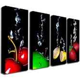 Black Splash by Roderick Stevens Canvas Art (Set of 4)