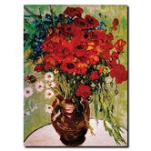 Daisie and Poppies by Vincent Van Gogh Canvas Art