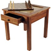 Wood 3 in 1 Chess Backgammon Table by Trademark Games