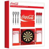 Coca-Cola Dart Cabinet with Bristol Dartboard and Darts
