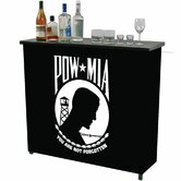 Pow Metal 2 Shelf Portable Bar Table Carrying Case