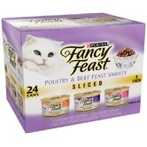 Sliced Poultry and Beef Feast Variety Wet Cat Food (3-oz can,case of 24)