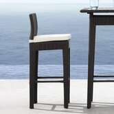 Railay Outdoor Pub Chair in Dark Brown