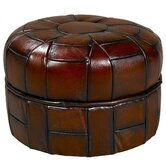 Pumpkin Leather  Ottoman (Set of 2)