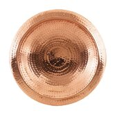 Hammered Copper Bowl with Rim