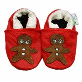 Gingerbread Man Soft Sole Leather Baby Shoes