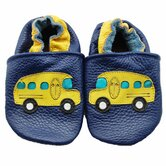 School Bus Soft Sole Leather Baby Shoes