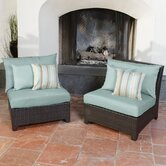 Bliss Armless Sectional Piece with Cushions (Set of 2)