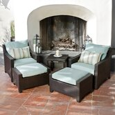Bliss 5 Piece Deep Seating Group with Cushions