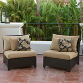 Delano Armless Sectional Piece with Cushions (Set of 2)