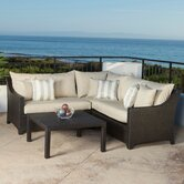 Slate 4 Piece Deep Seating Group with Cushions