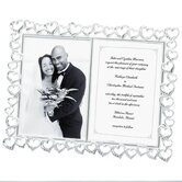 Wedding Open Heart with Crystals Double Picture Frame