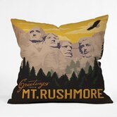Anderson Design Group Polyester Mt Rushmore Indoor/Outdoor Throw Pillow