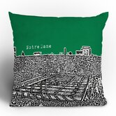 Bird Ave Notre Dame Throw Pillow
