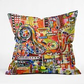 Robin Faye Gates Polyester It Came From Detroit Indoor/Outdoor Throw Pillow