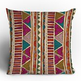 Valentina Ramos Ethnic Stripes Throw Pillow