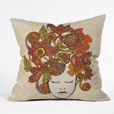 Valentina Ramos Polyester Its All In Your Head Indoor/Outdoor Throw Pillow