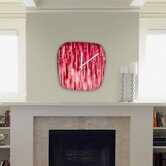 Jacqueline Maldonado Red Rain Modern Clock