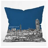 Bird Ave Ann Arbor Throw Pillow