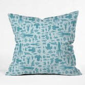 Jennifer Denty Polyester Sea Creatures Indoor/Outdoor Throw Pillow