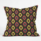 Jacqueline Maldonado Polyester Zig Zag Ikat Indoor/Outdoor Throw Pillow