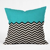 Bianca Green Polyester Indoor/Outdoor Throw Pillow