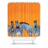 Clara Nilles Candy Stripe Zebras Shower Curtain