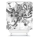 Iveta Abolina Black And White Play Shower Curtain