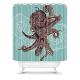 Valentina Ramos Octopus Bloom Shower Curtain