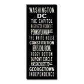 Washington DC Sign Art