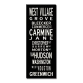 West Village Sign Art