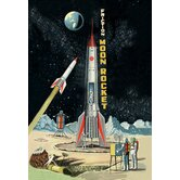 Friction Moon Rocket Canvas Art
