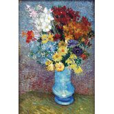 Flowers in a Blue Vase by Van Gogh Canvas Art