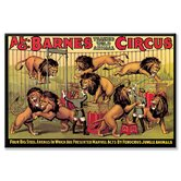 Al G. Barnes Trained Wild Animal Circus Canvas Wall Art