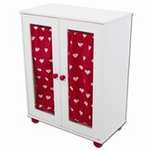 Wooden Doll Armoire Closet