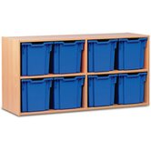 Jumbo 8 Tray Mobile Storage Unit