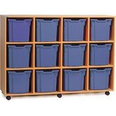 Jumbo 12 Tray Mobile Storage Unit