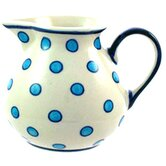 Turquoise Spots Medium Hand-Decorated Jug