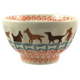 Dogs 13.97cm Hand-Decorated French Bowl