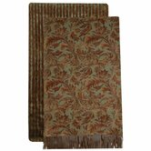 Nutmeg Leaf Russet Mink Throw