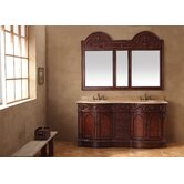 "72"" Double Bathroom Vanity with Mirror"