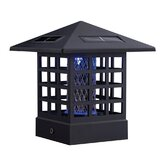 "4"" x 4"" x 6.5"" McFarland Cascade Black Bug Zapper and Solar Post Light"