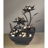 Cadono Metal Flower Tabletop Fountain