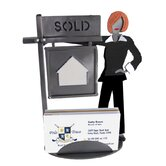 Desk Accessory Real Estate Female Business Card Holder