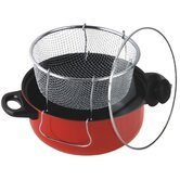 4.5 Quart Non Stick Deep Fryer with Frying Basket and Glass Cover
