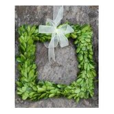 Boxwood Square Wreath with Ribbon
